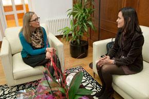 La conselleira de Facenda, Elena Muñoz, se reunió a finales de enero con la nueva delegada de la AEAT en Galicia, María Imelda Capote.