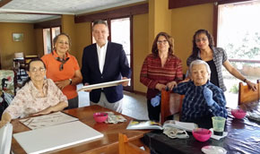 Alfredo Prada en la Residencia José Pujol de la Asociación Española de Beneficencia.