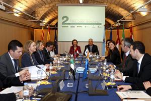 Beatriz Mato (dcha.) en el II Encuentro Interterritorial por el cambio demográfico.
