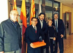 Con socios del Centro Gallego de Tarragona.