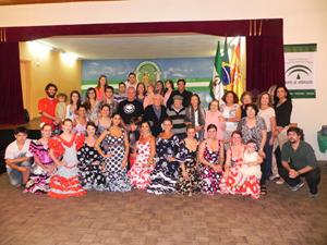 Parte de los asistentes al festejo de la Casa de Andalucía en Curitiba.