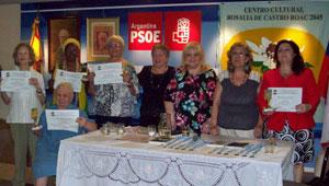 Latorre, en el centro, junto a las mujeres que fueron reconocidas por su destacada trayectoria en diversos ámbitos socioculturales.