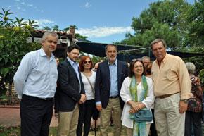 López Dobarro, Rodríguez Miranda, la directiva del Centro Gallego Ana Botija, Roberto Varela, Ana Olivera y Jorge Torres.