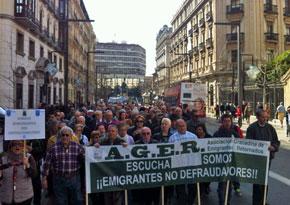 Manifestación celebrada en Granada el martes 18 de marzo.