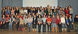 Foto de familia de las participantes.