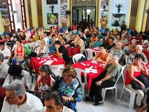 Vista parcial del salón de actos de la Casa Canaria de Cuba.