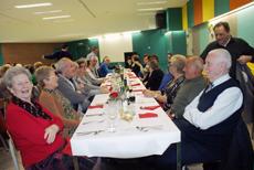 Aspecto de la sala comedor donde se celebró el evento.