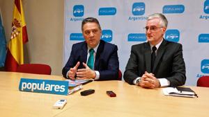 Alfredo Prada y el responsable del PP en Argentina, José Manuel Rodríguez.