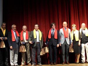 Las autoridades españolas presentes (Camba, Romero, López Dobarro, Herner y Reus Tous), en la inauguración del Congreso.