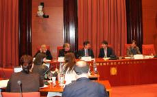 Comparencia en el Parlament de Catalunya de los directivos de la FIEC.