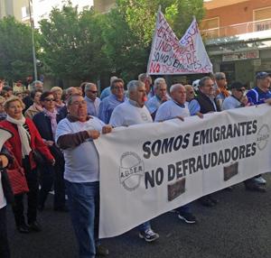 Manifestación en Cádiz el 22 de abril.