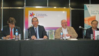 Pousa, Lorenzo, González Tosar y Requeixo en el acto en homenaje a Díaz Castro.