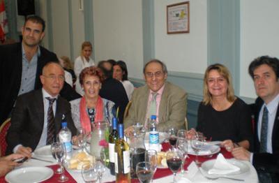 Croci, Camba, Michelón, Barrios, Hernando y Cantero ocuparon la mesa principal de la celebración.