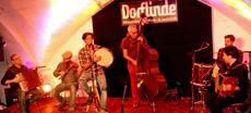 Actuación conjunta de 'Davide Salvado Trío' y 'Talabarte'.