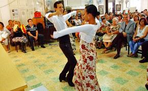 Un momento de la celebración de la Colonia Leonesa en la capital cubana.