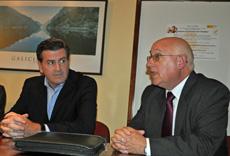 Pedro Bordaberry y el presidente de AEGU, Héctor Álvarez.