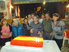 Justo antes de partir al tarte del 95 aniversario.