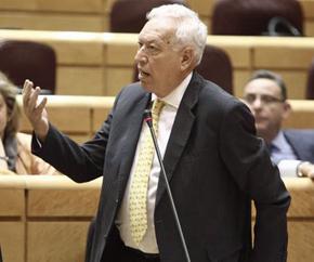 El ministro de Asuntos Exteriores, José Manuel García-Margallo, en el Senado.