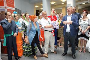 Recepción en el Ayuntamiento de Vilvoorde por Hans Bonte, alcalde.