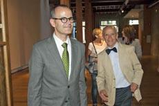 El conselleiro Xesús Vázquez y Manuel Mandianes.
