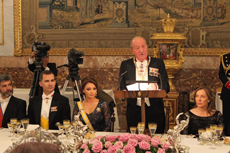 Intervención de Don Juan Carlos en la cena de gala ofrecida en honor del presidente de México.