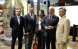 El consejero, Manuel Jiménez Barrios (2º por la derecha), presentó en Huelva el IV Ranking de Empresas Exportadoras.