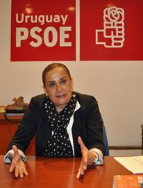 La diputada y responsable de Emigración del PSOE, Carmela Silva.