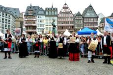 El grupo 'Follas Novas' en Frankfurt.