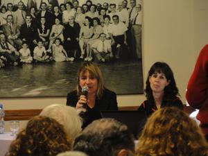 Hernando y Casanueva en un momento de la conferencia.