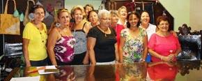 Las componentes de la Comisión de Mujeres de la Agrupación de Sociedades Castellanas y Leonesas.