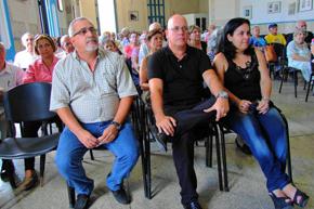Enrique Repiso, Sergio Toledo y Vania Rivero presidieron el acto de la FSGC.