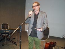 Javier Múñiz durante la realización de la segunda edición del festival.
