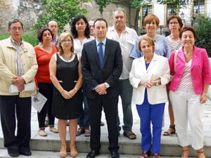 Guillermo Martínez con los miembros de la Comisión.