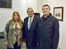 María Amelia Alonso, Jorge Daniel Lemus y José María Vila Alén durante la inauguración.