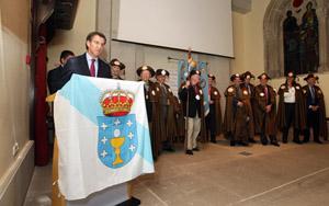 Alberto Núñez Feijóo en su intervención en la reunión de la Enxebre Orde da Vieira.