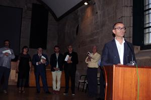 Xesús Vázquez, durante su intervención en la entrega de los premios de Fegalcat.