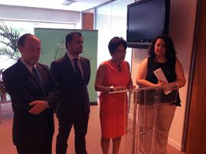 Antonio Ramos, Raúl Perales, Candela Mora y María Esther Gil, en el acto celebrado en Madrid.