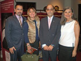 Duarte Cuadrado, Hernando, D'Aloia y Fuentes Astorga minutos antes del inicio del acto.