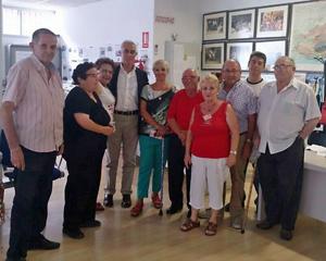Con emigrantes retornados en la Asociación Granadina.