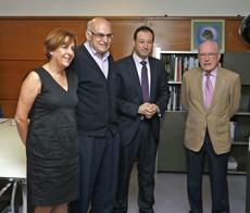 Begoña Serrano, José Manuel Solís, Guillermo Martínez y Florentino Martínez.
