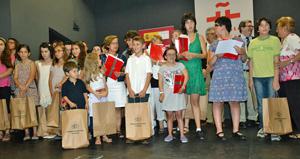 Algunos de los alumnos premiados.