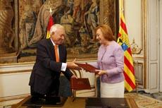 El ministro García-Margallo y la presidenta de Aragón, Luisa Fernanda Rudi.