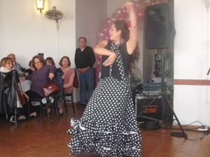 Noelia Pedraza durante su actuación.