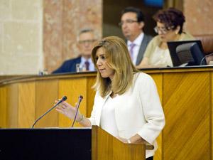 Intervención de la presidenta de la Junta, Susana Díaz.