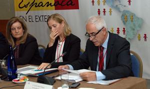 Intervención de Aurelio Miras Portugal en la jornada inaugural del Pleno ante la ministra Fátima Báñez y Marina del Corral.