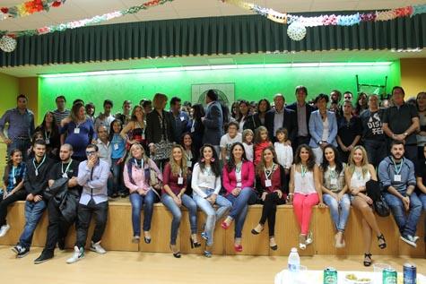 Foto de familia de participantes en el I Encuentro de Jóvenes Andaluces.