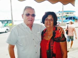 Eusebio Leal Spengler y María A. Rabanillo.