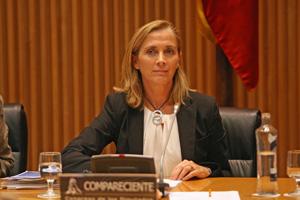 La secretaria general de Inmigración y Emigración, Marina del Corral, compareció en el Congreso el 6 de octubre.