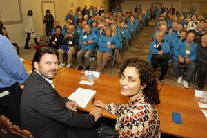 Antonio Rodríguez Miranda y Amparo González recibieron a los participantes en 'Reencontros na terra' 2014.