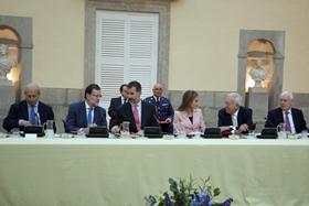 José Ignacio Wert, Mariano Rajoy, el Rey Don Felipe, la Reina Doña Letizia, García-Margallo y Víctor García de la Concha.